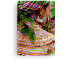 Girl with the Silver Earring Canvas Print
