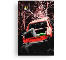 THE BODY IN THE BOOT Canvas Print