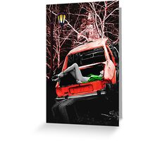 THE BODY IN THE BOOT Greeting Card