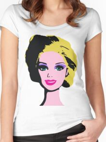 Barbie Monroe Warhol style Women's Fitted Scoop T-Shirt