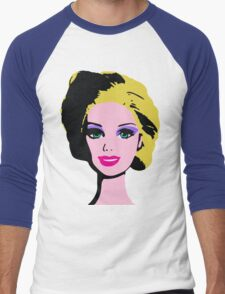 Barbie Monroe Warhol style Men's Baseball ¾ T-Shirt