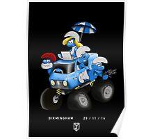 Smurfs On Tour, Birmingham Poster