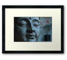 Buddha, in Blue. Framed Print