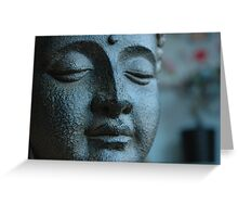Buddha, in Blue. Greeting Card