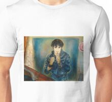ELVIS PRESLEY ROCK STAR PORTRAIT AND STILL LIFE WITH RECORDS PAINTING Unisex T-Shirt