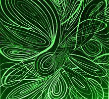 Swirl green by AbsurdistArt