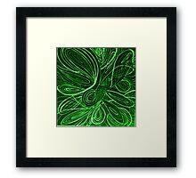 Swirl green Framed Print