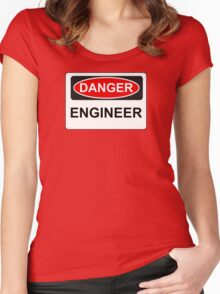 Danger Engineer - Warning Sign Women's Fitted Scoop T-Shirt