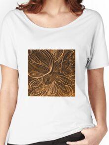 Swirl orange Women's Relaxed Fit T-Shirt