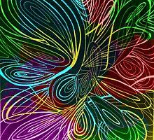 Swirl rainbow by AbsurdistArt
