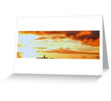 Sunset Over Scrabo Tower Greeting Card