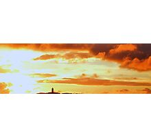 Sunset Over Scrabo Tower Photographic Print