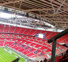Inside Wembley Stadium by Kirsty Harper