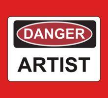 Danger Artist - Warning Sign Kids Clothes