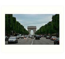 A walk in Champs Alysee Art Print