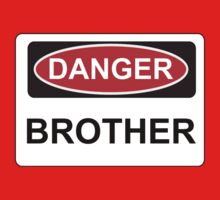 Danger Brother - Warning Sign Baby Tee