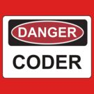 Danger Coder - Warning Sign by graphix