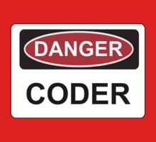 Danger Coder - Warning Sign Kids Clothes