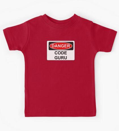 Danger Code Guru - Warning Sign Kids Tee