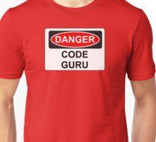 Danger Code Guru - Warning Sign Unisex T-Shirt