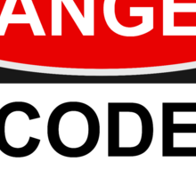Danger Code Guru - Warning Sign Sticker