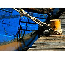Tethered Boat Photographic Print