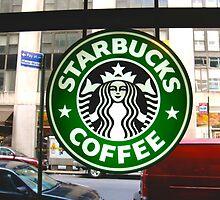 Time Square Starbucks by shoshgoodman