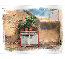 Pot plants Lisbon Poster
