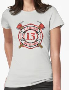 Ladder 13 - Distressed Cross Womens Fitted T-Shirt
