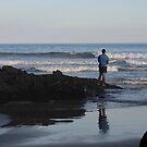 Lone Fisherman by Debra LINKEVICS