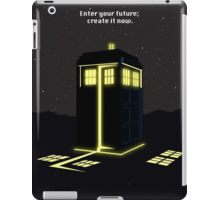 Minimalist quote Enter the future; create it now iPad Case/Skin