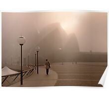 Opera House in the Fog Poster