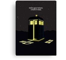 Minimalist quote Enter the future; create it now Canvas Print