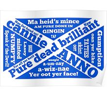 Scottish slang and phrases Poster