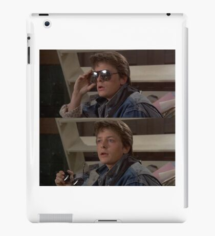 Michael J Fox Marty McFly Back To The Future Rock N Roll iPad Case/Skin