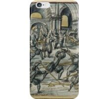 "Meyer ""Fechtschule"" Scene iPhone Case/Skin"
