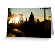 Doncaster Sunset Greeting Card