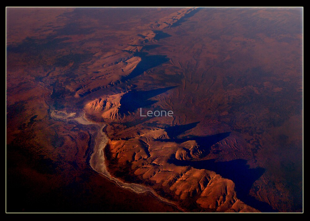 Central Australia at 38,000 ft. by Leone Fabre