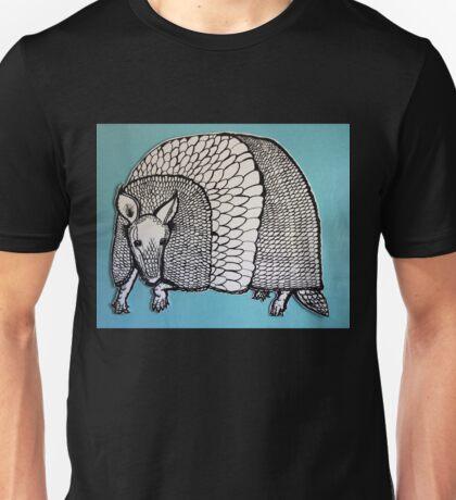 Black & White & Blue Armadillo Unisex T-Shirt