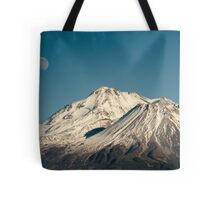Moon over Shasta Tote Bag