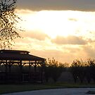 Gazebo at Sunset by daydremr