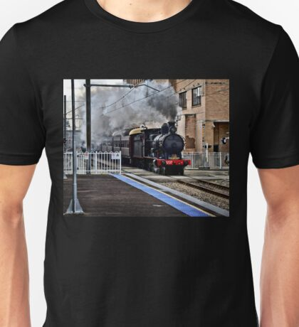 Steam Engine 3237 - The Last Ride Out of Newcastle NSW Unisex T-Shirt