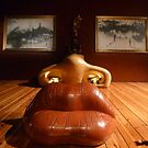 Dali's May West's lip sofa  by Woodie
