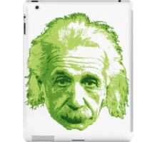 Albert Einstein - Theoretical Physicist - Green iPad Case/Skin