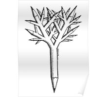 Pen and tree Poster