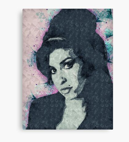 Illustrated Amy Winehouse Print Canvas Print