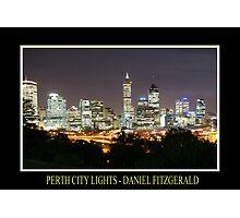 Perth City Lights Photographic Print