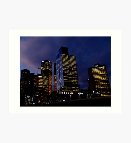 night view Art Print