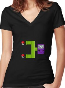 transfer pokemon Women's Fitted V-Neck T-Shirt