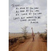 Travel. Photographic Print